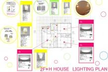 照明計画/各部屋の用途とその部屋の必要な照度などの機能、そして、部屋のスタイルやイメージなどデザイン的要素などを考え、その部屋にあった照明器具を選ぶ。