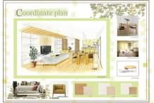 住居デザイン/お客様の要望に沿い住居計画(LDKに特化)をする。LDKに壁面収納をデザイン。家具、住宅設備、照明器具、仕上げ材料、アクセサリーを選択。