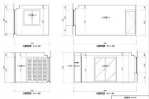 CAD/平面・立面・断面・展開図・天井伏図・詳細図などの作成を通して、操作・製図のルールを覚える。設計条件を読み取り、プランニングをまとめ図面化する力をつける。