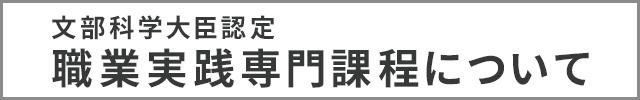 文部科学大臣認定 職業実践専門課程について
